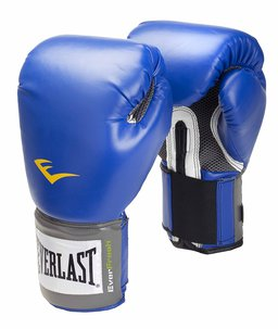 Blue pair of Everlast Pro Style Training Gloves.