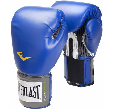 Red pair of Everlast Pro Style Training Gloves.