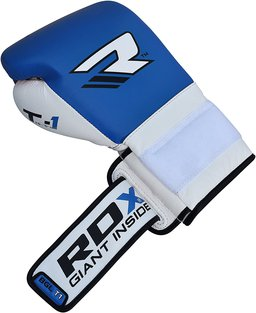 The top of the RDX Cow Hide Boxing Gloves.