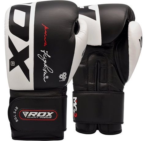 The four colours the RDX Cow Hide Boxing Gloves come in.